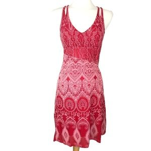 Athleta Nanda Knotted Dress Size M Red Hot Tamale
